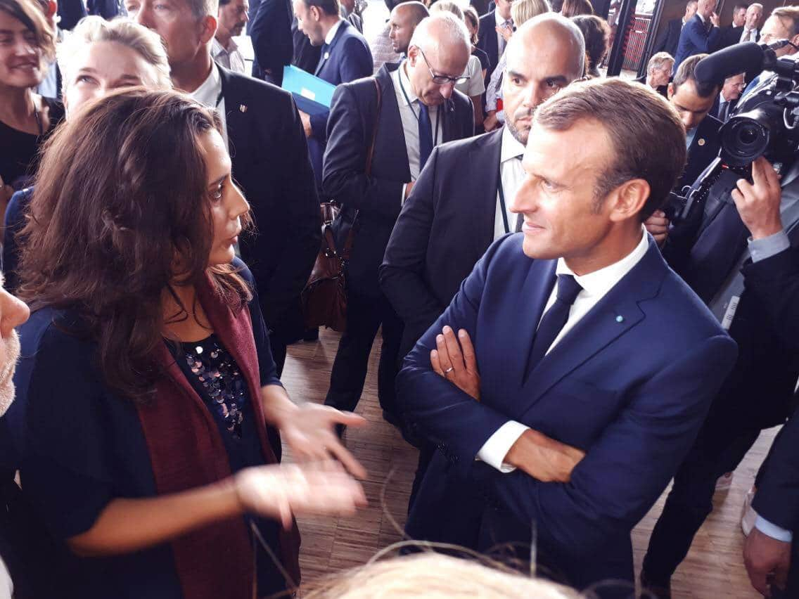Anaïs Lora met with the French president Emmanuel Macron