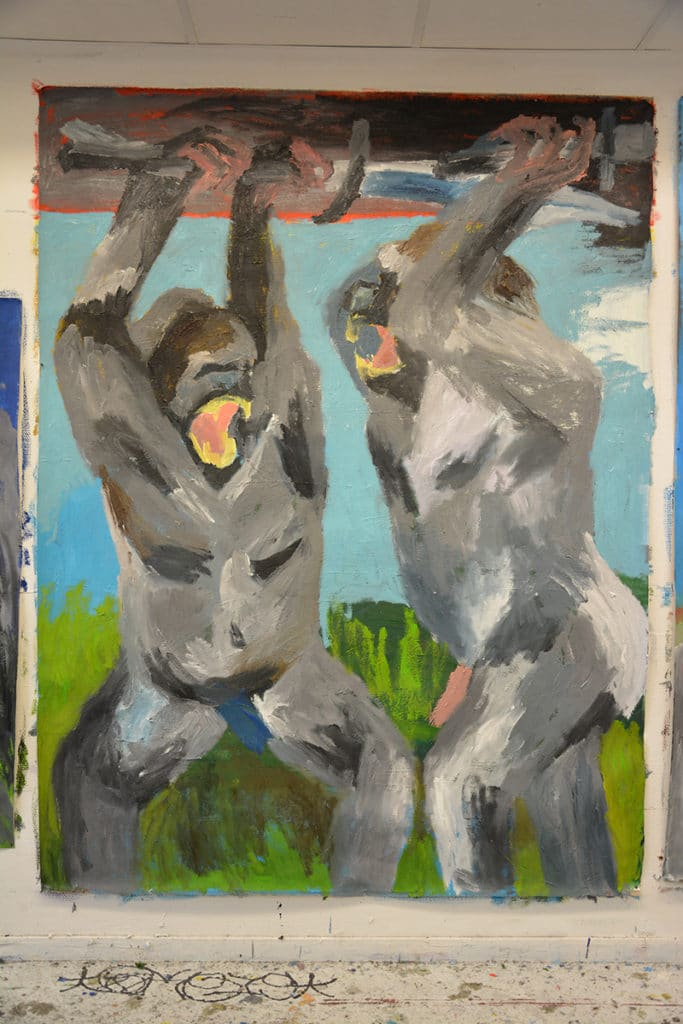 The NXT: Melting Platform. Article and artwork by Kristine Bjerre. Two gorillas fighting.